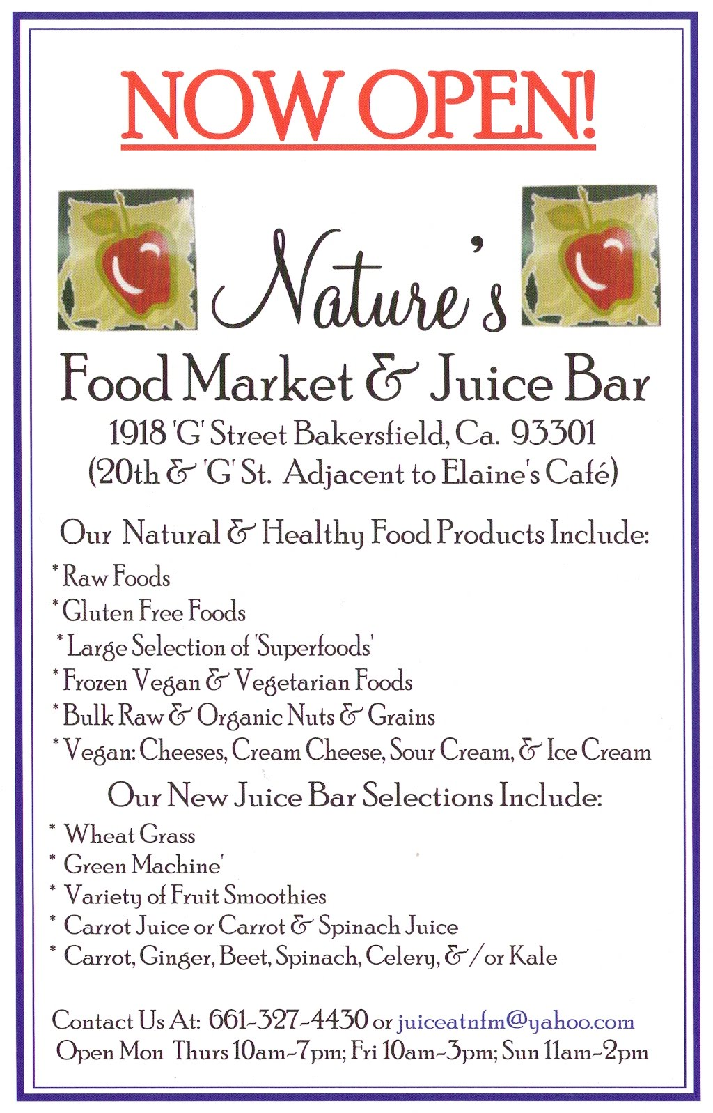 Nature S Food Market Bakersfield